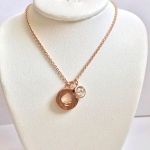Kate spade crystal rose gold necklace